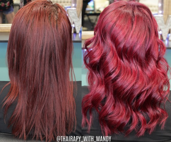 Full balayage + vivids color melt, haircut/blowout/style by Mandy